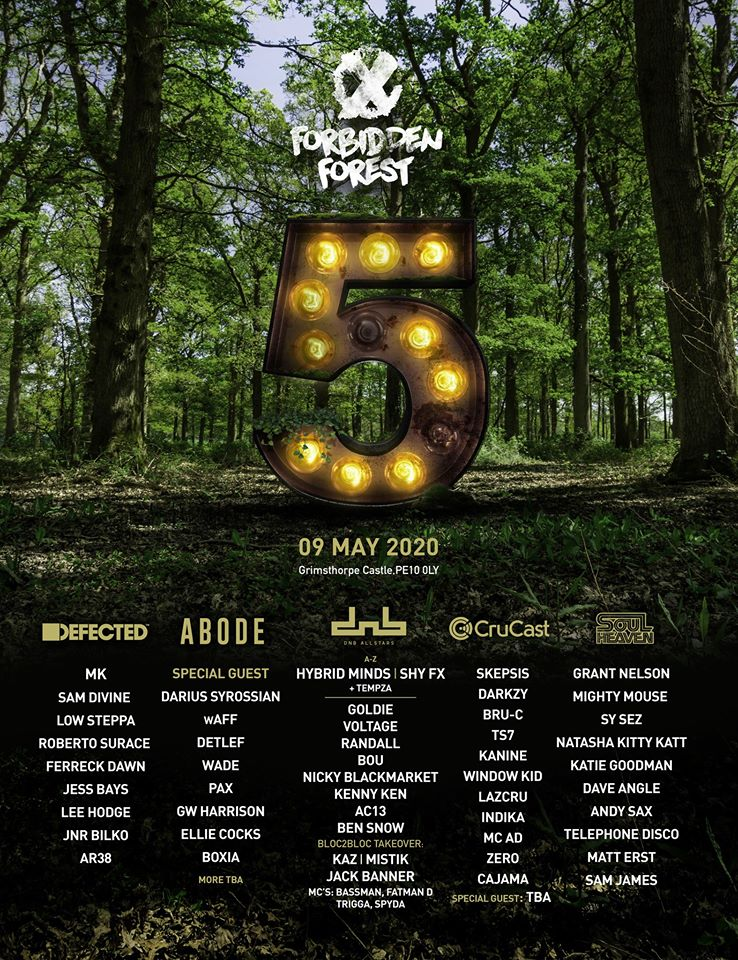 Forbidden Forest May 2020 Lineup