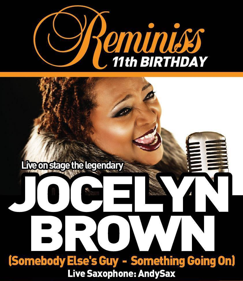 Reminiss 11th Birthday Flyer Jocelyn Brown Andy Sax Hull