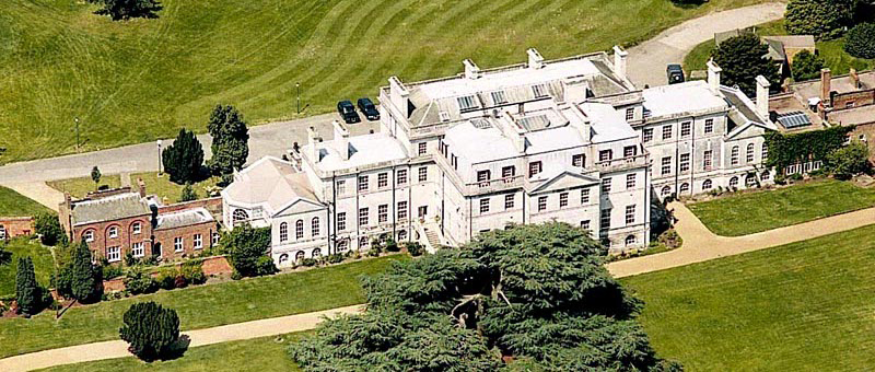 Aerial view of Addington Palace in Surrey